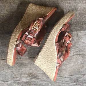 SPERRY Top Sider Wedge Sandals Size 7